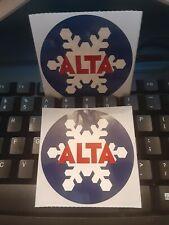 X2 TWO ALTA UTAH SKI SNOWBOARD MOUNTAIN RESORT STICKER~ DECALS