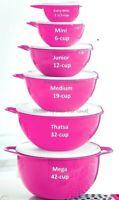 Tupperware Thats a Bowl 6 Piece Epic Set Pink