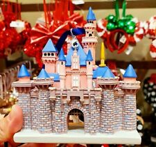 New 2020 Sleeping Beauty Castle Disney Parks attractions hand painted ornament