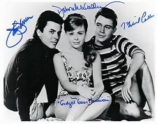 OFFICIAL WEB James Darren, Michael Callan & Deborah Walley 8x10 TRIPLE AUTOGRAPH