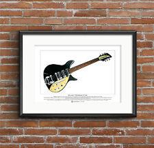 John Lennon's 1958 Rickenbacker 325 Capri Limited Edition Fine Art Print A3 size