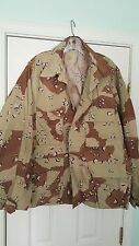 "US ARMY CHOCOLATE CHIP ""DESERT STORM"" BDU COAT-JACKET W/ US ARMY LARGE REG nos"