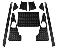 Defender 110 Puma Set A - 2mm Placa con cuadrados - revestido de polvo negro -