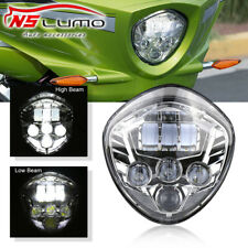 Chrome LED Motorcycle Headlight For Victory Cross Country Kingpin Vegas Daymaker