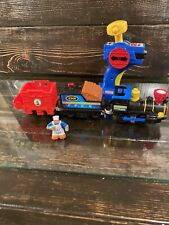 Fisher-Price GeoTrax Timbertown Railway Train & Remote Steam Engine Works 6368