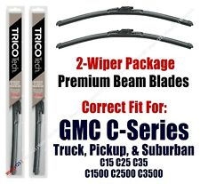 Wipers 2-Pack Premium Beam Blades - fit 1973-1978 GMC C35 C3500 Pickup - 19160x2