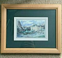 Sue QuarlesChateau Lake Louise Print Alberta Canada Framed Matted Vintage 1996