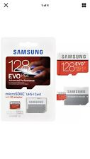Samsung 128GB EVO plus 80MB/s MicroSD SDXC UHS-I Class 10 Memory Card Adapter