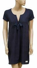 152654 New Odd Molly Embroidered Cotton Navy Tunic Dress Small S 1