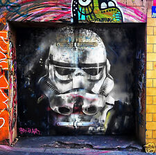 star wars storm trooper movie film street by painting  andy baker  COA abstract
