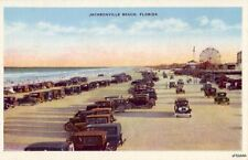 JACKSONVILLE, FL ATLANTIC BEACH LINED WITH AUTOMOBILES