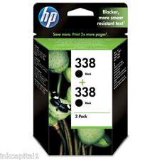 2 x nero HP ORIGINAL OEM a getto d'inchiostro Cartuccia N. 338 C8765EE