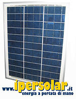 Pannello solare fotovoltaico 50 Watt/12 Volt - Policristallino