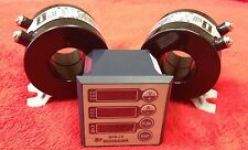 Single Phase Meter for Amperage, Voltage, Frequency, Hours With two 75 AMP CTs