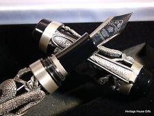 Snake Antique Silver Fountain Pen Cast, Collector Item @@LOOK@@   FREE USA SHIP!