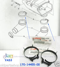 Yamaha YAS3 DS6 LS2 Air Boot Clamp x2 NOS AS3 Air Cleaner Joint YAS3 LS 2 DS 6