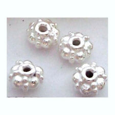 20pcs solid 925 bright  Sterling SILVER handmade rondelle SPACER Bead 4.5mm S02
