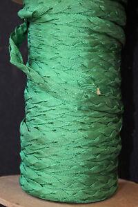 VINTAGE 1940'S GREEN SILK BRAIDED TRIM 1/4 INCH X 65 YD