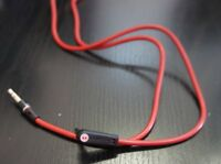 MONSTER Beats AUDIO Cable for Solo 1 RED BLACK 3.5mm straight jack to 3.5mm L...