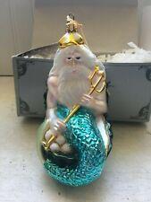 "Kurt Adler Polonaise King Neptune Christmas Ornament Nib Mermaid Man 6"""