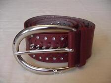 """GUESS LADIES BROWN WIDE RHINESTONE BELT SIZE XL EUC FITS 38"""" TO 42"""""""