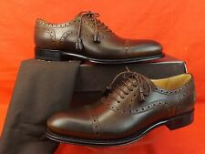 NIB GUCCI CAMBRIDGE BROGUE COCOA LEATHER TASSEL LACE UP OXFORDS 39.5 9.5 $ 650