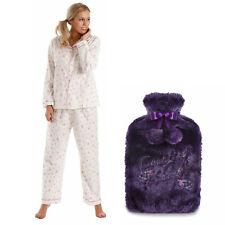 14-16 Lady Olga Winceyette Cotton Pyjamas Pink + FREE  Hot Water Bottle