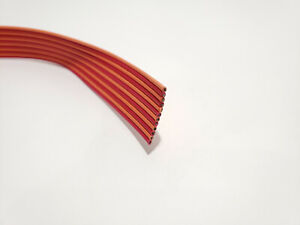 5 Foot - 12 Conductor Spectra Strip Flat Ribbon Cable - 24AWG - Custom Length