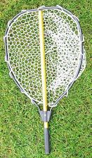 "Telescopic Landing Net Rubber Fishing Gear Rod Tools Hook Big Catch Hoop 20"" NEW"