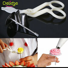 4pcs Sugarcraft Cake Piping Nozzles Scissors CupCake Stand Cake Decorating Set