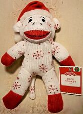 Dan Dee SNOWFLAKE SOCK MONKEY Red White Christmas Stuffed Animal Plush Toy 10""