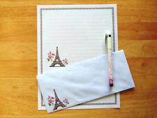 Eiffel Tower Stationery Writing Set With Envelopes - Lined Stationary