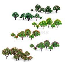 Lot 50x Flower Trees Model Train Layout Wargame Diorama 1:75-1:500 HO N Z Scale