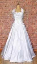 Genuine Vintage Wedding Dress Gown 80s Retro Victorian Edwardian Style UK 10
