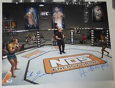 Carla Esparza Angela Hill Signed UFC 16x20 Photo PSA/DNA TUF Ultimate Fighter 20