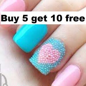 Caviar Nail Art manicure Mini Small Glass Beads BUY 5 GET 10 FREE 5g bags