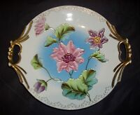 """Vintage Raised Floral Collector Plate/Platter- Guthez 11.5""""D Signed and Numbered"""