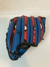"Marvel Spiderman Tee Ball Glove And Training Ball 9.5"" Ages 5-10 Right Hand Thro"