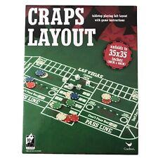 Craps Layout Felt Tabletop Playing Mat Cardinal Games 35x35 Instructions Casino