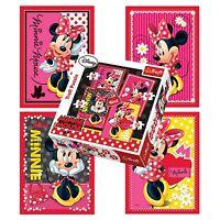 Trefl 4 In 1 35 + 48 + 54 + 70 Piece Girls Disney Minnie Mouse Jigsaw Puzzle NEW