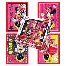 Trefl 4 en 1 35 + 48 + 54 + 70 Piezas Chicas Disney Minnie Mouse Rompecabezas Nuevo