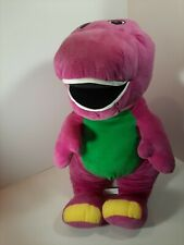 "Large Lyons Talking/Singing Plush Barney The Dinosaur 23"" Fisher Price"