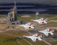 Photograph Air Force F16 Thunderbirds / Space Shuttle Endeavour STS-123 8x10