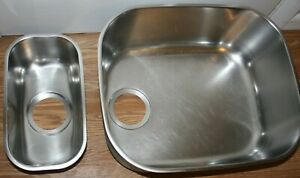 Franke Undermount Stainless Steel Kitchen Sink and Prep Sink, Lot of 2