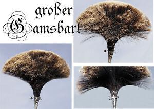 grosser NEUER Gamsbart HUT Hutanstecker Tracht Hülse Gemse + Anstandhalter 22cm