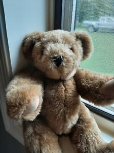 "Vermont Teddy Bear Company Classic Vtg plush Jointed Tan Teddy Vintage 15"""