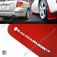 RALLY ARMOR UR RED MUD FLAPS FOR 2005-2009 SUBARU LEGACY OUTBACK w/ WHITE LOGO