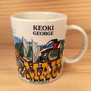 "ALOHA MAUI HAWAII ""George"" Beautiful Souvenir Name Coffee Mug Ceramic Tea Cup"