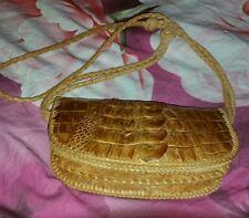 """Vintage Alligator Small 7 1/4"""" Purse Handmade Shoulder Bag"""