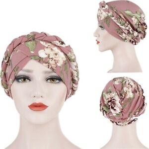 Indian Muslim Women's Hijab Turban Braid Hat Head Wrap Headwear Cancer Chemo Cap